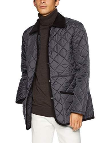 Lavenham [ラベンハム] DENHAM-LAVENSTER-MENS-18AW キルティングジャケット(POLYESTER,無地) メンズ 901128623001 L-Black UK 34 (日本サイズXS相当)